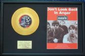 "OASIS - 24 Carat Gold 7"" Disc & Song Sheet - DON'T LOOK BACK IN ANGER"